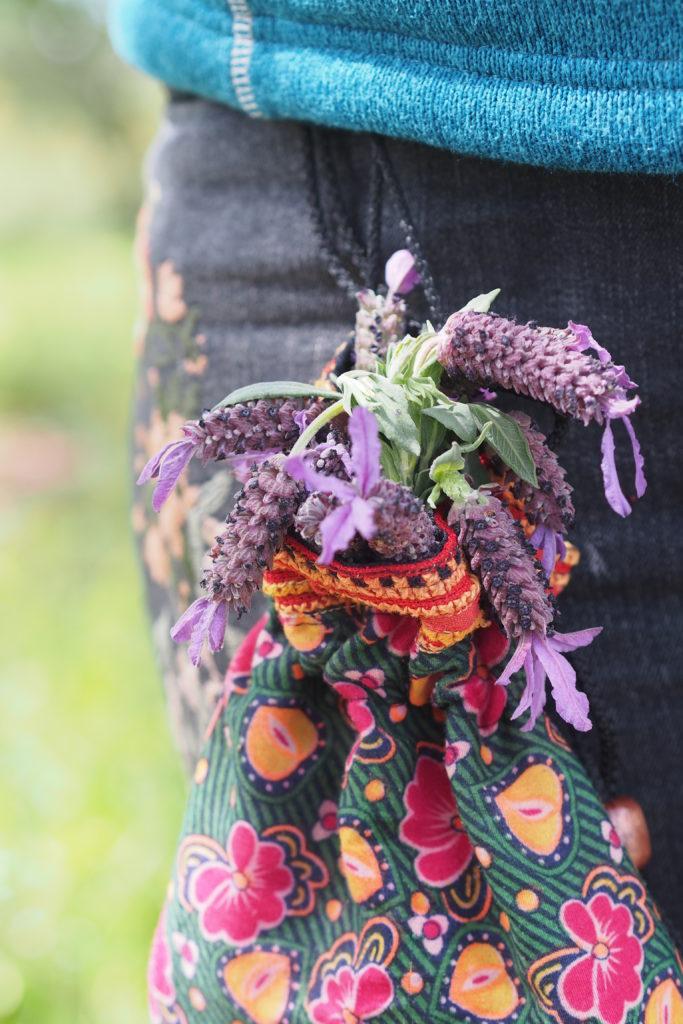 Kräutersammelbeutel mit Lavendel